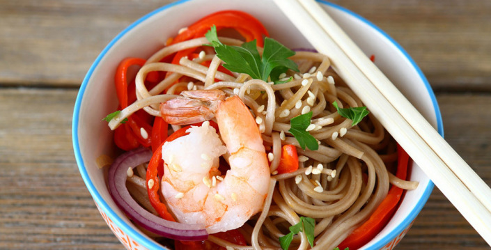 Sunnere spaghetti og scampi