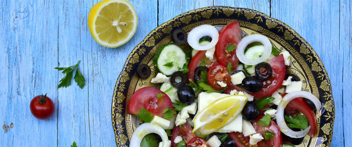 Salat for vegetar fra hellas