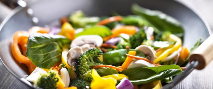 Sunn salatwok for vegetarianere