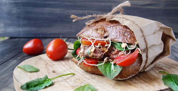 Hjemmelaget hamburger