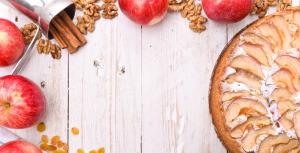 Sunn kake med epler