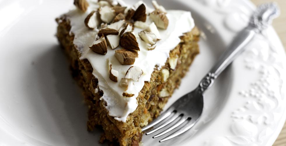 Den sunnere kaken med gulrøtter