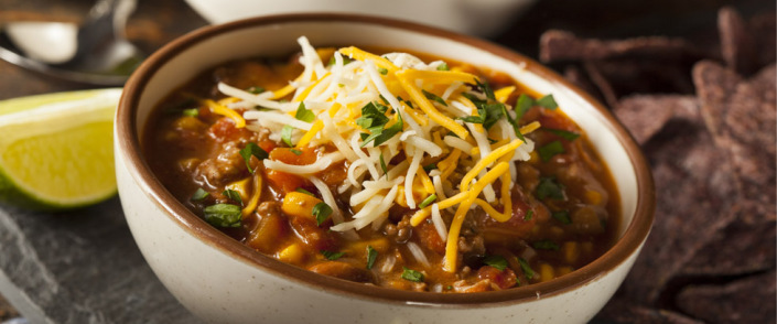 Sunnere meksikansk gryte med chili og kylling