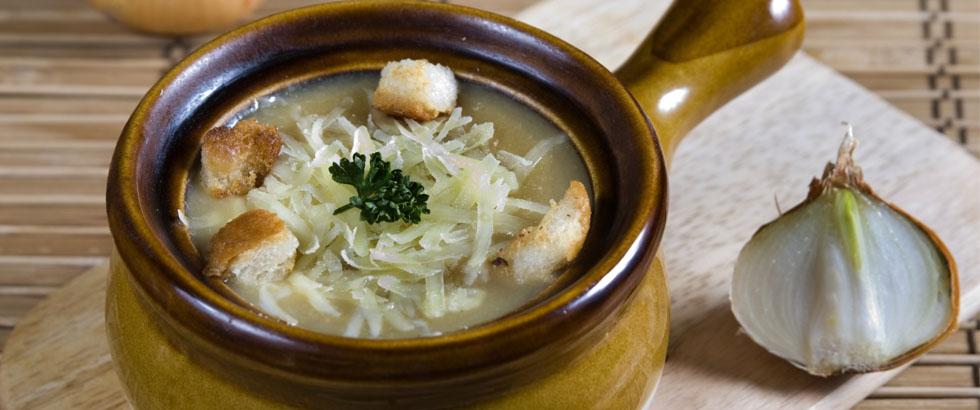 Fransk suppe på løk