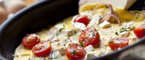 Den proteinrike og saftige omeletten med kylling