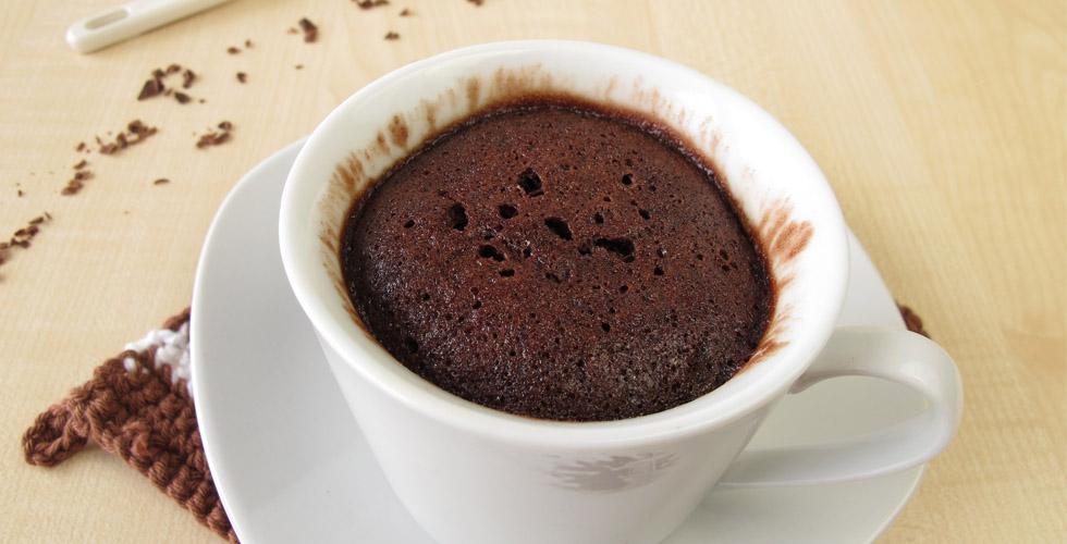 Kake laget i kopp med sunne ingredienser