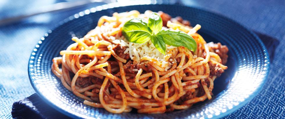 Sunnere spaghetti med kjøttdeig