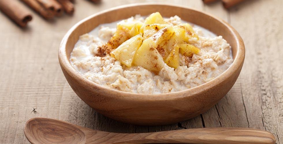 Overnight oats med eple