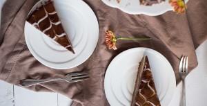 Ostekake med sjokolade