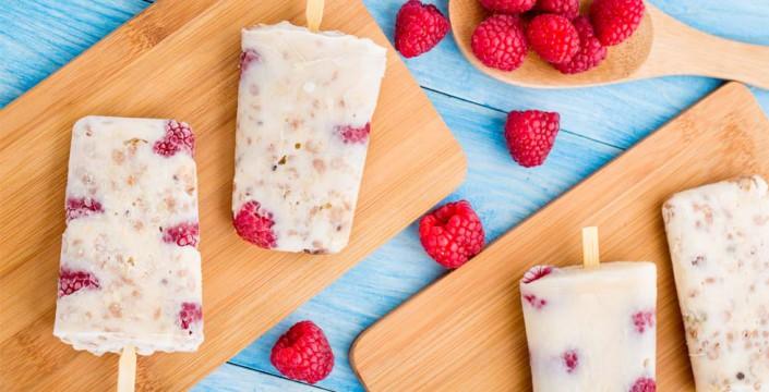 Yoghurtis med havregryn